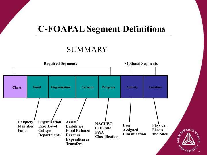 C-FOAPAL Segment Definitions