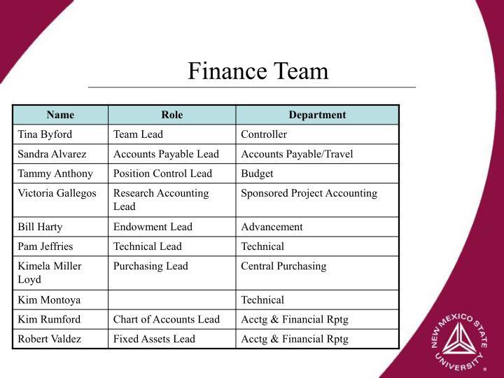 Finance Team