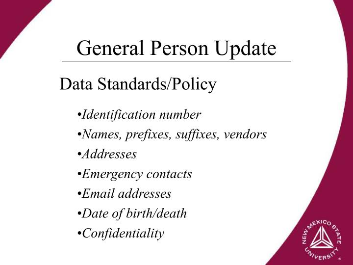 General Person Update