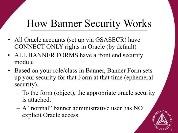 How Banner Security Works