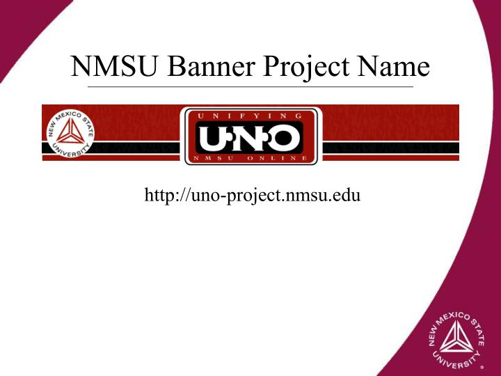 NMSU Banner Project Name