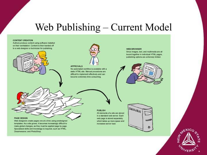 Web Publishing – Current Model