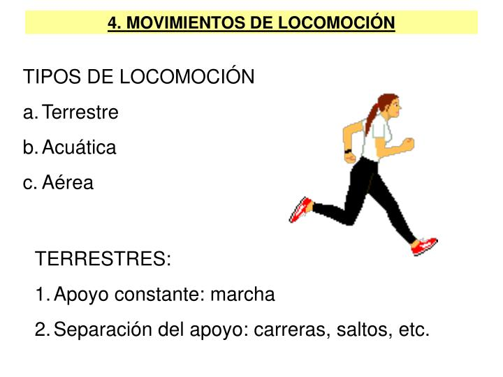 4. MOVIMIENTOS DE LOCOMOCIÓN
