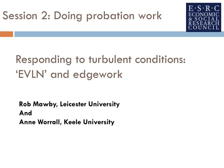 responding to turbulent conditions evln and edgework