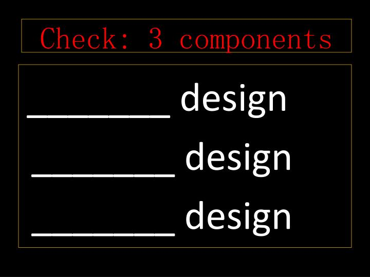 Check: 3 components