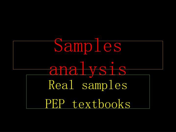 Samples analysis