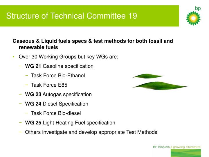 Gaseous & Liquid fuels specs & test methods for both fossil and renewable fuels