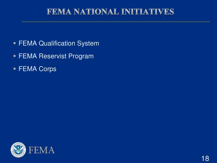 FEMA National Initiatives