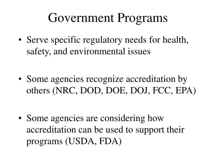 Government Programs