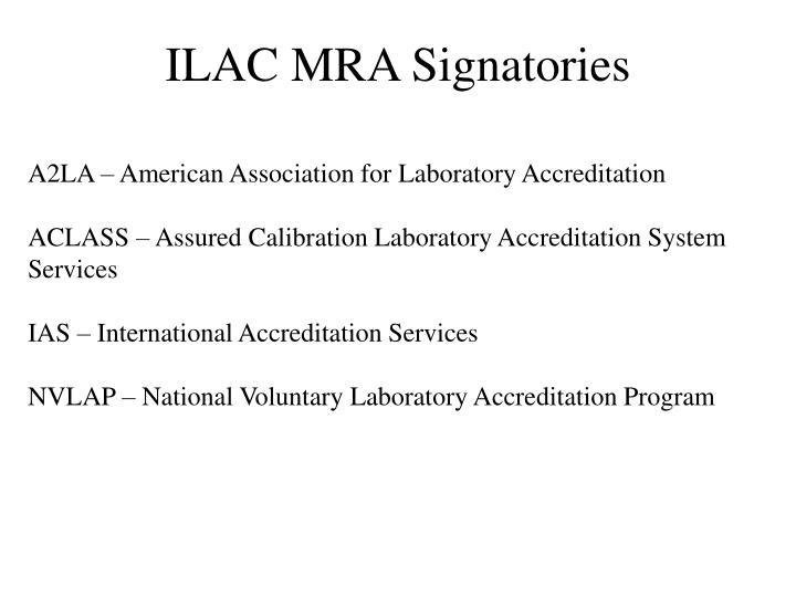 ILAC MRA Signatories
