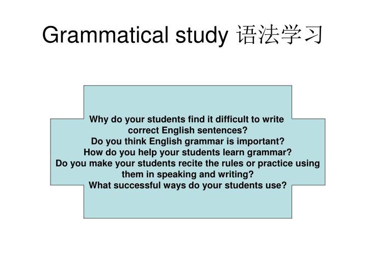 Grammatical study