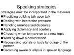 speaking strategies
