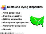 death and dying disparities