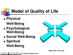 model of quality of life