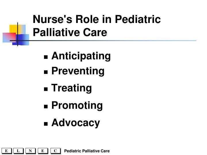 Nurse's Role in Pediatric Palliative Care