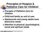 principles of hospice palliative care for children