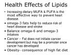 health effects of lipids1