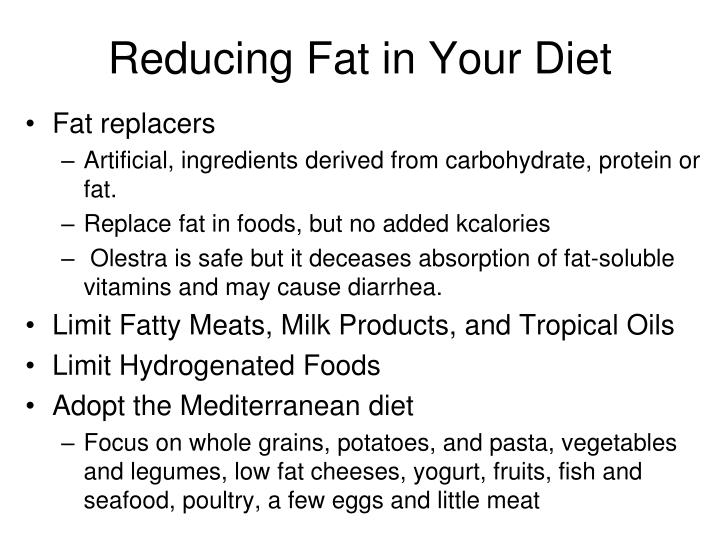 Reducing Fat in Your Diet