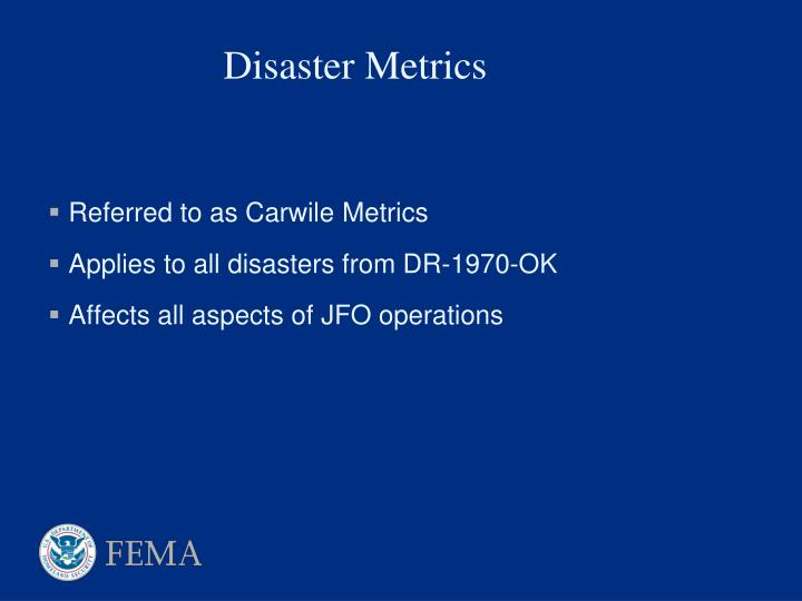 Referred to as Carwile Metrics