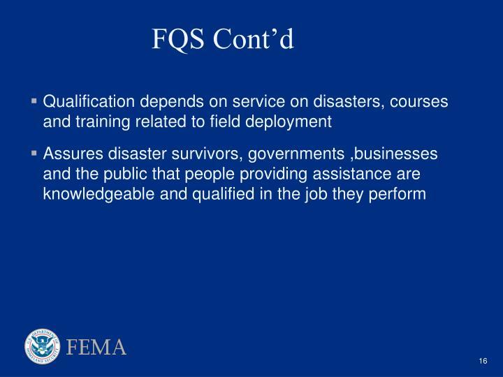 FQS Cont'd