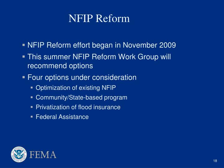 NFIP Reform