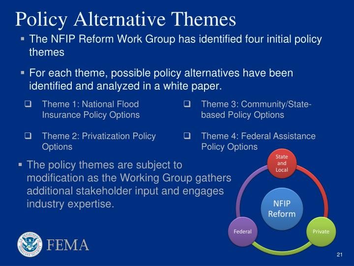 Policy Alternative Themes