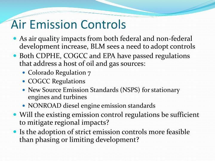 Air Emission Controls
