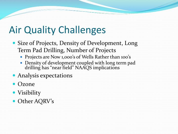 Air Quality Challenges