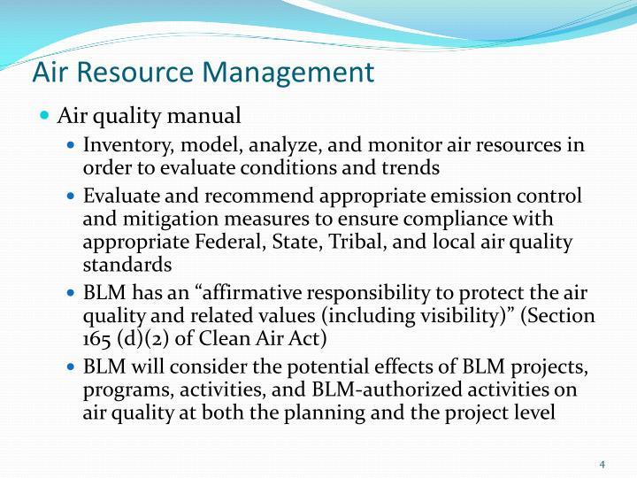 Air Resource Management