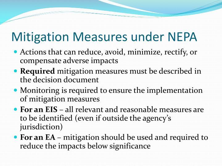 Mitigation Measures under NEPA