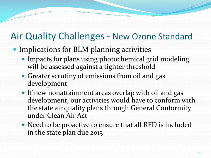 Air Quality Challenges -