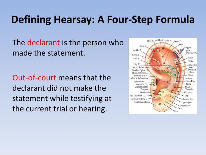 Defining Hearsay: A Four-Step Formula