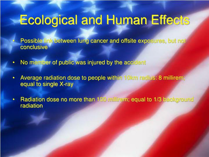 Ecological and Human Effects
