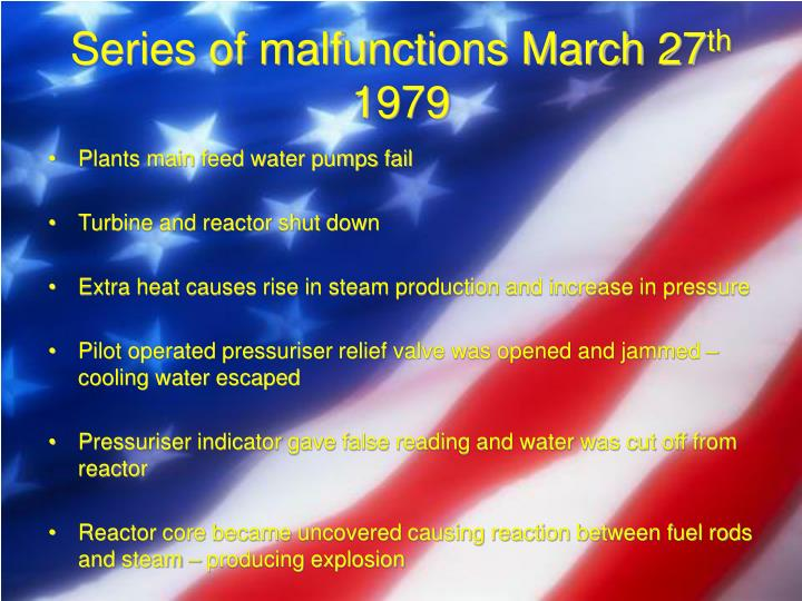 Series of malfunctions March 27