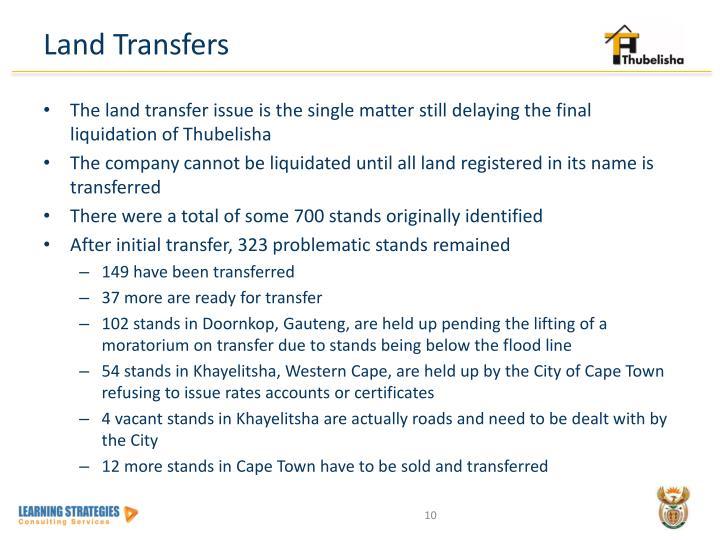 Land Transfers