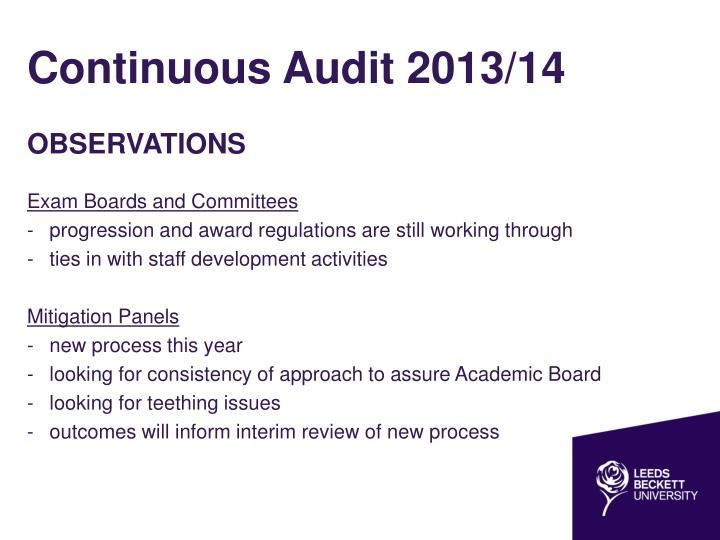 Continuous Audit