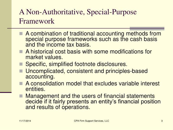 A Non-Authoritative, Special-Purpose Framework
