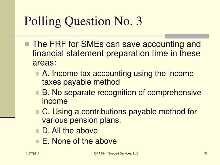 Polling Question No. 3