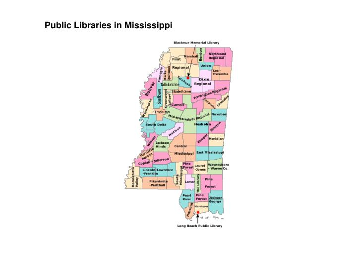 Public Libraries in Mississippi