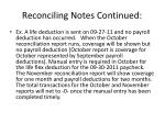 reconciling notes continued