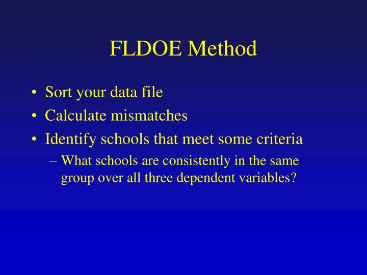 FLDOE Method