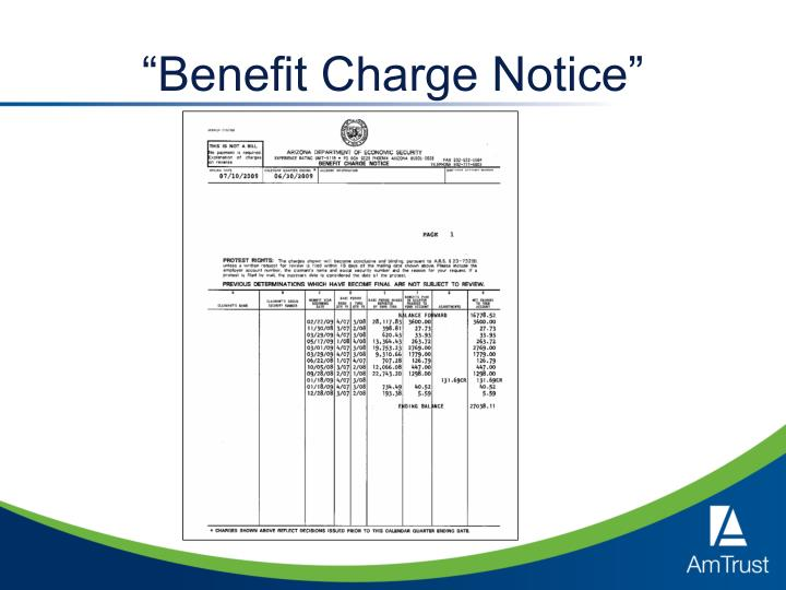 """Benefit Charge Notice"""