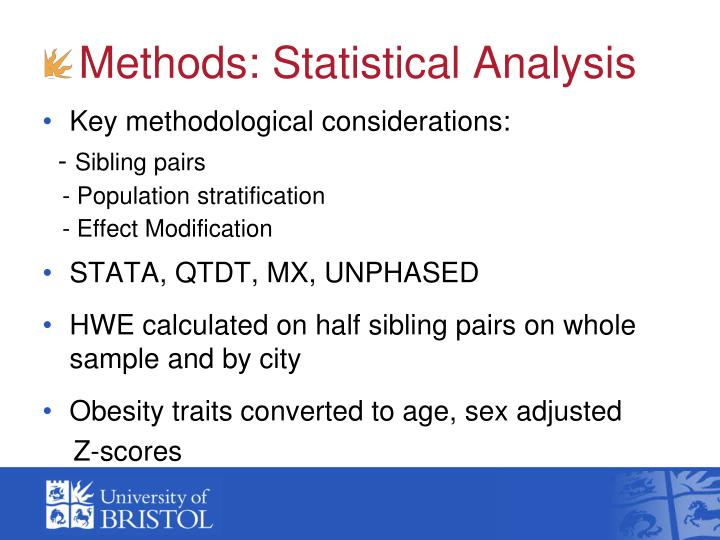 Methods: Statistical Analysis