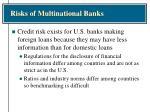 risks of multinational banks1