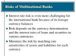 risks of multinational banks5