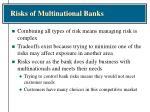 risks of multinational banks6