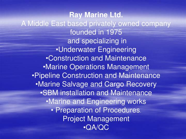 Ray Marine Ltd.