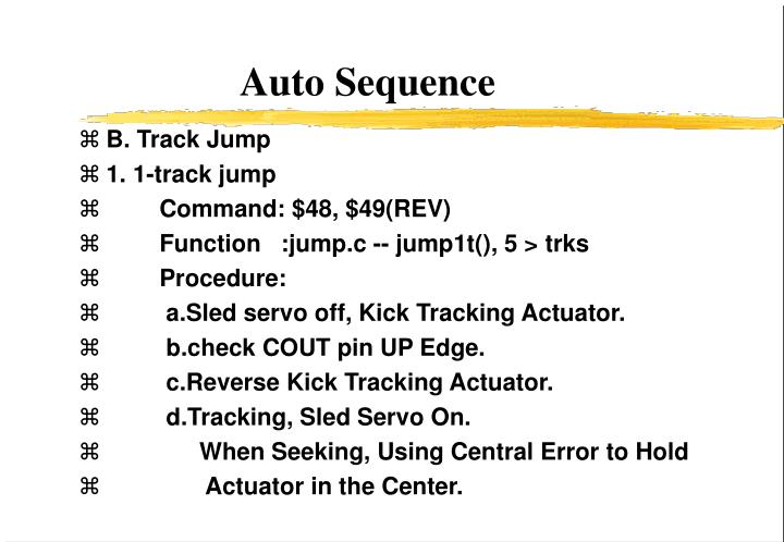 Auto Sequence