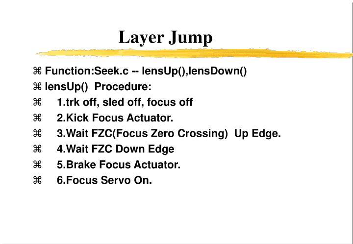 Function:Seek.c -- lensUp(),lensDown()