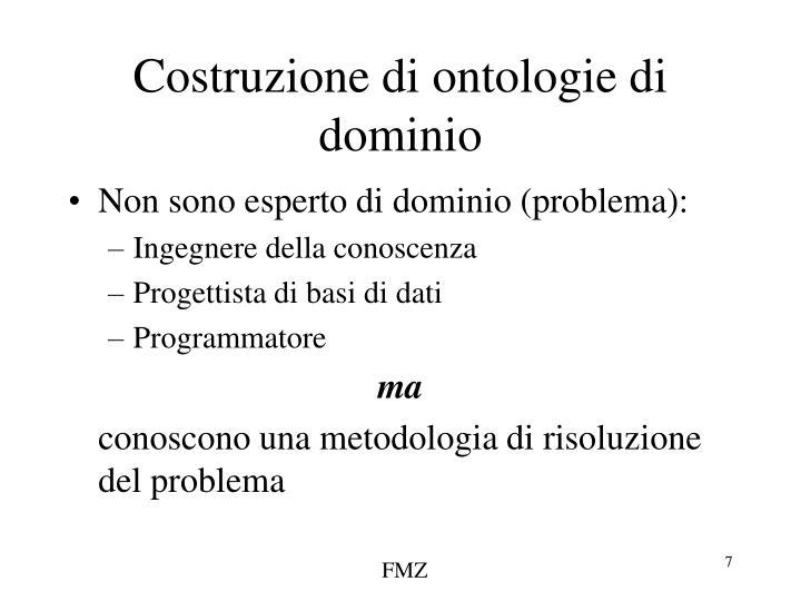 Costruzione di ontologie di dominio